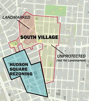 Hudson Square Map