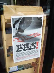 Flyer calling for removal of Gansevoort Hotel billboards